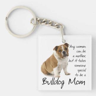 Bulldog Mom Keychain