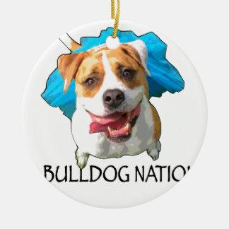 bulldog nation ceramic ornament