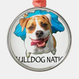 bulldog nation metal ornament