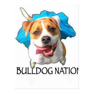 bulldog nation postcard