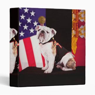 Bulldog Navy Official Mascot Dog 3 Ring Binder