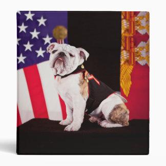 Bulldog Navy Official Mascot Dog Binder