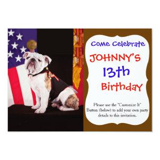 Bulldog Navy Official Mascot Dog Card