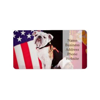 Bulldog Navy Official Mascot Dog Label