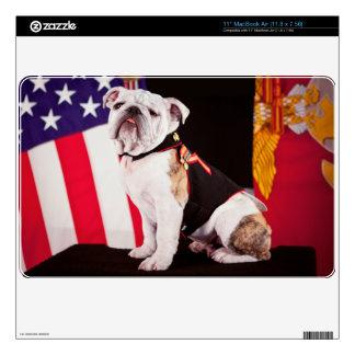 Bulldog Navy Official Mascot Dog Skin For The MacBook