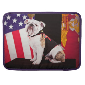 Bulldog Navy Official Mascot Dog Sleeve For MacBook Pro