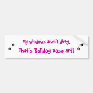 Bulldog nose art. bumper sticker