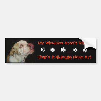 Bulldog Nose Art Bumper Sticker