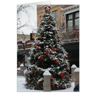 Bulldog Note Cards, Giddings Plaza Holiday Tree Stationery Note Card