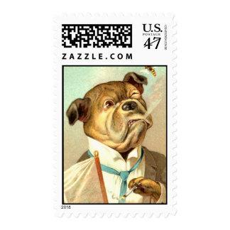 Bulldog of a Businessman Postage