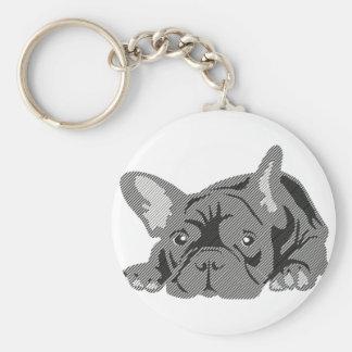 Bulldog of Lines Keychain