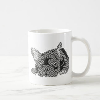 Bulldog of Lines Classic White Coffee Mug
