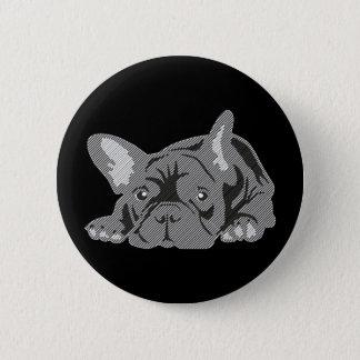 Bulldog of Lines Pinback Button
