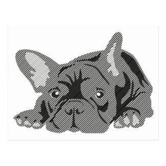 Bulldog of Lines Postcard