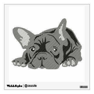 Bulldog of Lines Wall Decal