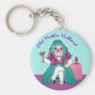 Bulldog Old Mother Hubbard Basic Round Button Keychain