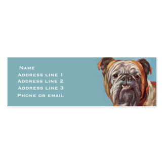 Bulldog on Blue (large) Business Card