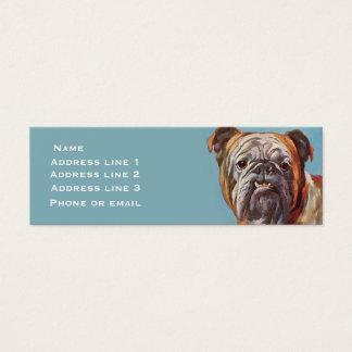 Bulldog on Blue (large) Business Card