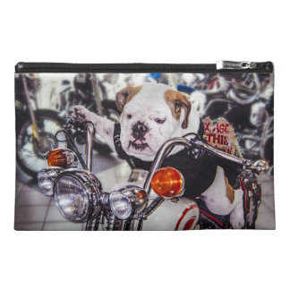 Bulldog on Motorcycle Travel Accessories Bag