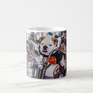 Bulldog on Motorcycle Coffee Mug