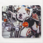 Bulldog on Motorcycle Mouse Pad