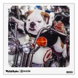 Bulldog on Motorcycle Wall Decal