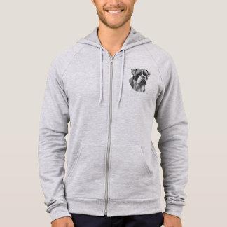 Bulldog on zip up hoodie