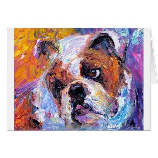 Bulldog Painting #1 Svetlana Novikova Card