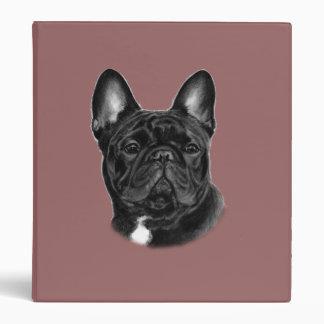 Bulldog Painting 3 Ring Binder