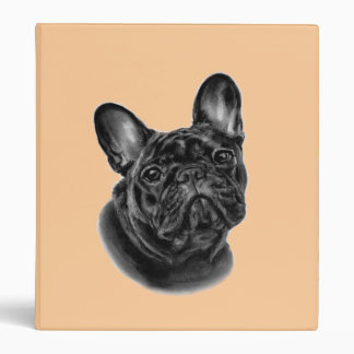 Bulldog Painting 3 Ring Binder