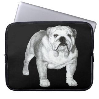 Bulldog Painting Computer Sleeve