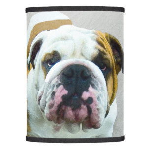 Dog lamp shades zazzle bulldog painting cute original dog art lamp shade aloadofball Gallery