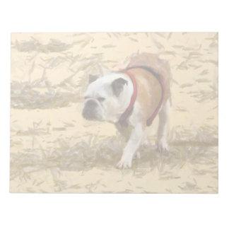 Bulldog painting notepads