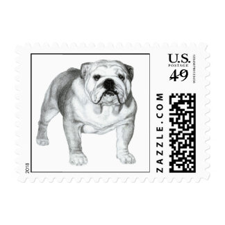 Bulldog Painting Stamps