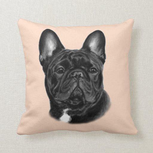 Bulldog Painting Throw Pillows