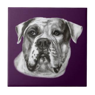 Bulldog Painting Tile