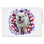 Bulldog Patriot Greeting Card
