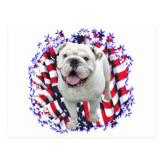 Bulldog Patriot Post Card