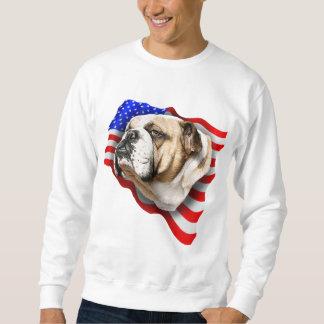 Bulldog Patriot US Flag Pullover Sweatshirt