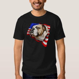 Bulldog Patriot US Flag Shirt