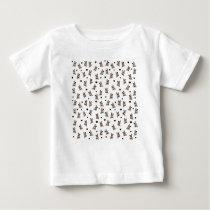 Bulldog pattern baby T-Shirt