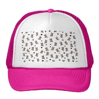 Bulldog pattern trucker hat