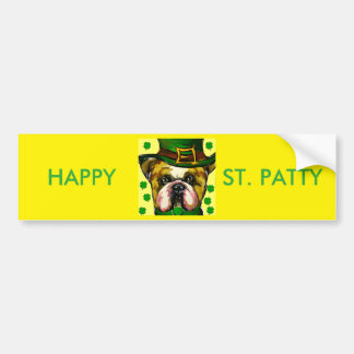 Bulldog Patty Bumper Sticker