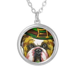 Bulldog Patty Silver Plated Necklace