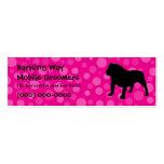 Bulldog Pet Care Pink Business Card Templates