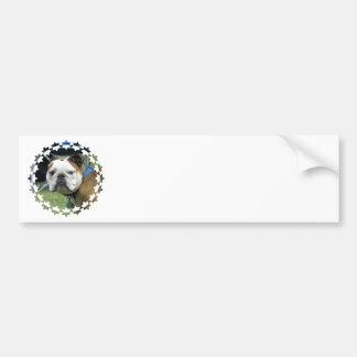 Bulldog Photo Bumper Sticker Car Bumper Sticker