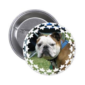 Bulldog Photo Round Button