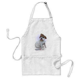 Bulldog pirate adult apron