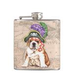 Bulldog Pirate Hip Flasks