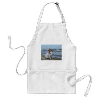 Bulldog Pirate on the beach Adult Apron